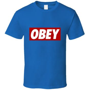 Hot Design Obey Logo Cool Awesome  T Shirt