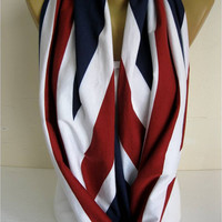 Infinity Scarf - England flag- Circle Scarf Loop Scarf ,gift Ideas For Her Women's Scarves-christmas gift- for her -Fashion accessories