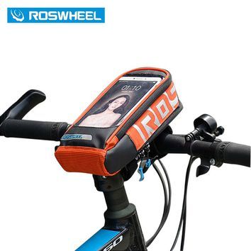 ROSWHEEL Handlebar Bag Outdoor Front Frame Bicycle Basket Bycicle Bag Bike Phone Case 5.7 inch MTB Cycling Pannier Pouch 111272