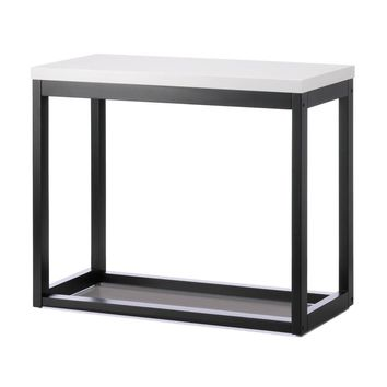 Pine Wood Modern Black Frame Long Table