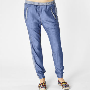 Michael Stars Denim Tencel Pull on Pant