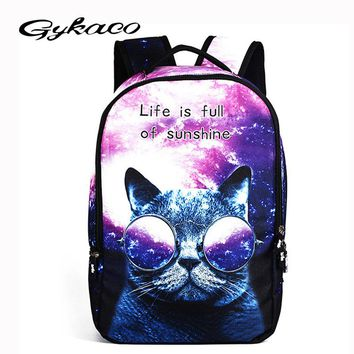 Cool Children 3D Animal Felt Backpack Men's Backpack Crazy Cat Dog Printing Bag for School Girls College Student Bagpack Mochila
