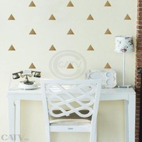 Triangles vinyl lettering decal home decor wall art saying (Gold, 2.5x3.5 set of 60)
