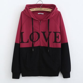 Women's Fashion Winter Hats Long Sleeve Hoodies Jacket [6439083332]