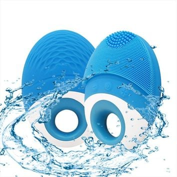 Facial Cleansing Brush - deep cleansing pore cleansing apparatus.IPX8 waterproof wireless charging ultrasonic cosmetic instrument.