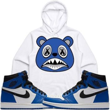 Royal Baws White Sneaker Hoodie - Jordan 1s High OG Royal