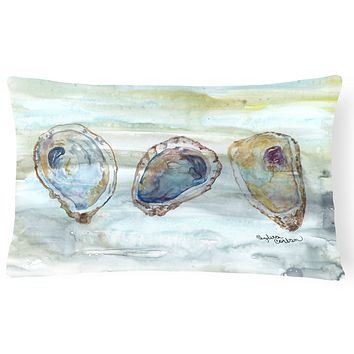 Oysters Watercolor Canvas Fabric Decorative Pillow SC2001PW1216