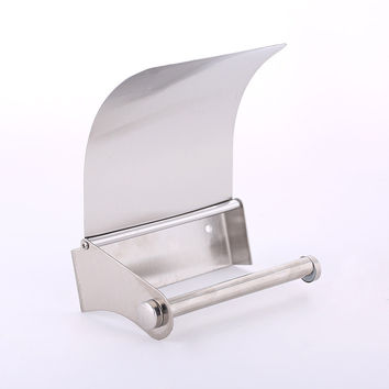 Sanitary Stainless Steel Bathroom Toilet Roll Holder Box Paper Towel Rack Bathroom Accessories