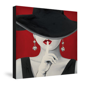 Haute Chapeau Rouge I Canvas Wall Art