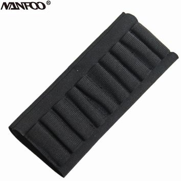 10 or 5 Bullet Shells Cartridge Belt Nylon Military Tactical Gun Bullet Holder Hunting Shooting Rifle Ammo Pouch Bandolier Black