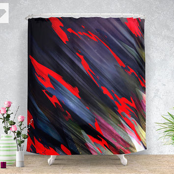 Feed the kids Shower curtain