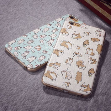 Stylish Hot Sale On Sale Cute Hot Deal Iphone 6/6s Lovely Dogs Cats Cartoons Phone Case [4915485508]