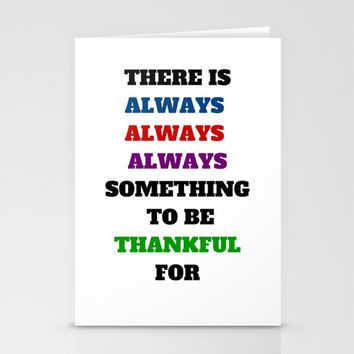 ALWAYS BE THANKFUL Stationery Cards by Love from Sophie