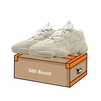 Top quality mens shoes Adidas Yeezy Boost Runner 500 Blush Desert Rat 500 Super Moon Yellow running shoes 500 Utility Black sneaker sports shoes