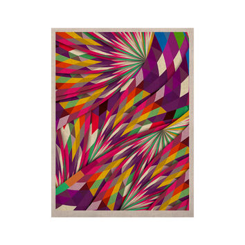 "Danny Ivan ""Sweet"" Multicolor Geometric KESS Naturals Canvas (Frame not Included)"