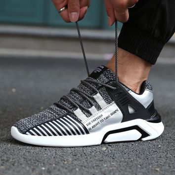 New Running Shoes For Men Sneakers Black White Male Sport Shoes  Jogging Sneakers Male Cheap Athletic Trainers Plus Size 39-46
