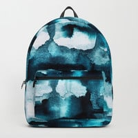 Watercolor 03 - Wild Sea Backpack by elisabethfredriksson