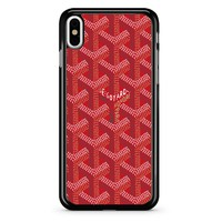Red Goyard iPhone X Case