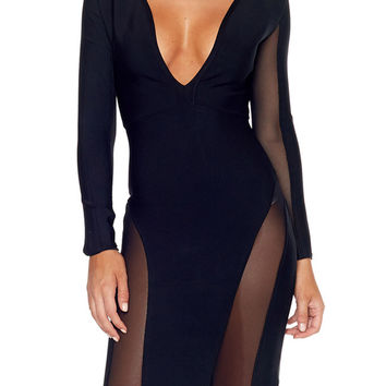 Agatha Bandage Dress - Black