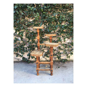 Wooden Plant Stand Wood Plant Stand Tiered Plant Stand Wooden Tiered Plant Stand Vintage Tiered Plant Stand