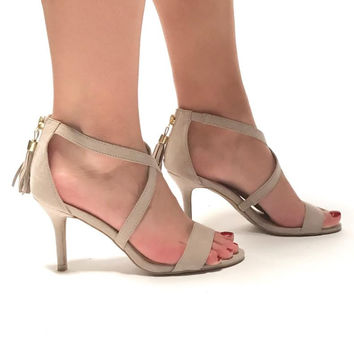 Waltz The Night Away Taupe Heels