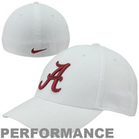 Nike Alabama Crimson Tide Dri-FIT Swoosh Flex Hat - White