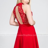 Swinging Red Lace Dress