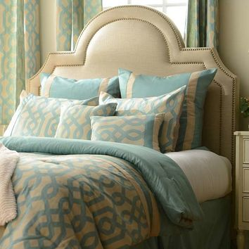 Aqua Gatehill 8-pc. Queen Comforter Set | Kirklands