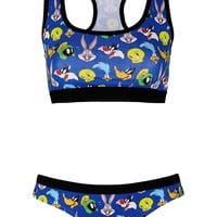 Looney Tunes Print Crop Top and Boypants - New In This Week - New In