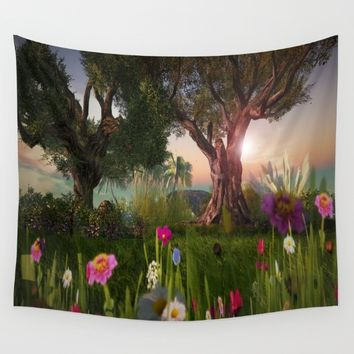 Multitude of Color Wall Tapestry by Bella Luna Arts