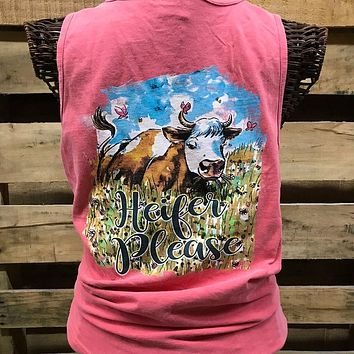 Southern Chics Heifer Please Comfort Colors T Shirt Tank Top