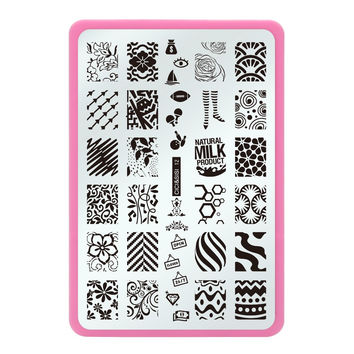 Stainless Steel Flower Style Nail Art Templates Nail Stamping Plates Nail Art Image Polish Stamp Stencil DIY Tools Series 12