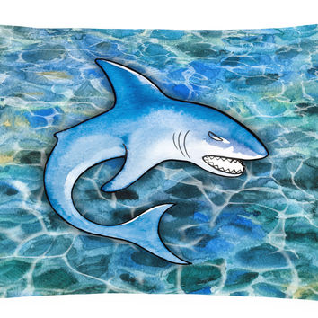 Shark Canvas Fabric Decorative Pillow BB5352PW1216