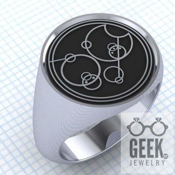 Say Who? Gallifreyan Custom Signet - Gents