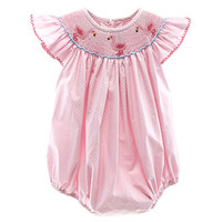 Starting Out 3-9 Months Flamingo Smocked Romper | Dillards