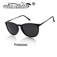 WHO CUTIE 2017 Top Quality Erika Sunglasses Polarized Gafas 4171 Women Men Cat Eye Driving Sun Glasses Hombre Mujer Oculos De So