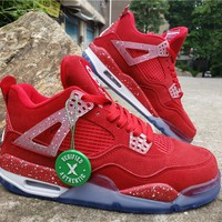Air Jordan 4 Retro AJ4 CNY Red Men's Sneaker US7-13