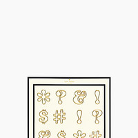 Kate Spade Expletive Paper Clips Gold ONE