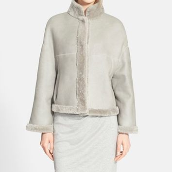 Women's Max Mara 'Albata' Reversible Genuine Shearling Coat,