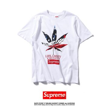 Cheap Women's and men's supreme t shirt for sale 85902898_0063