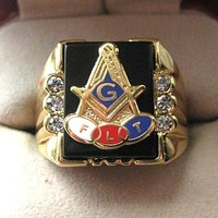 Independent Order of Odd Fellows Masonic Copper Ring