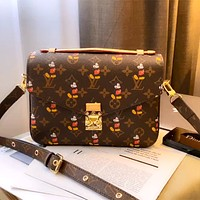 LV x DISNEY joint classic presbyopia messenger bag shoulder bag crossbody bag