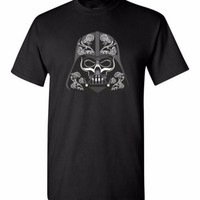 Star Wars Darth Vader Sugar Skull Day of the Dead Short sleeve t-shirt