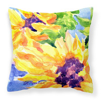 Flower - Sunflower Decorative   Canvas Fabric Pillow
