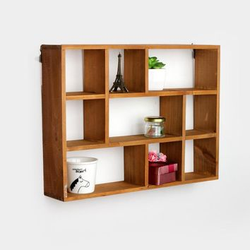 Day-First™ Home Wooden Storage Living Room Decoration Rack [6282624070]