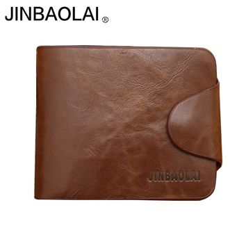 Vintage men wallet leather purse quality guarantee trifold brown credit card holder famous brand luxury wallets male clutch HOT