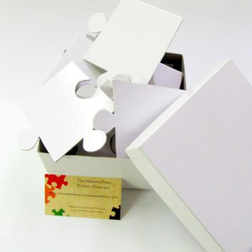 White Wedding Guest Book Puzzle with 30 Extra Large Puzzle Pieces #3
