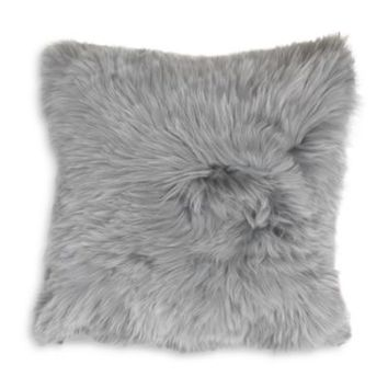 "Mitchell Gold Bob Williams Alpaca Silver Pillow, 20"" x 20"" 