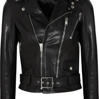 Saint Laurent | Leather biker jacket | NET-A-PORTER.COM