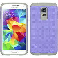 DW Dotted Hybrid Air Defender Case for Galaxy S5 - Purple/Grey